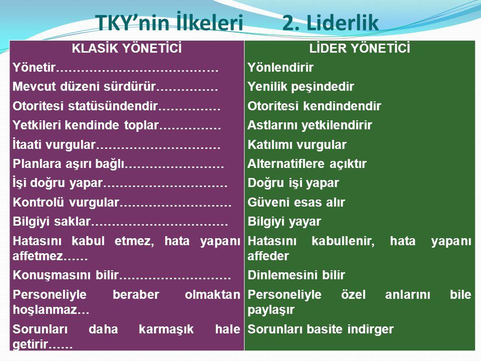 TKY'nin İlkeleri 2.