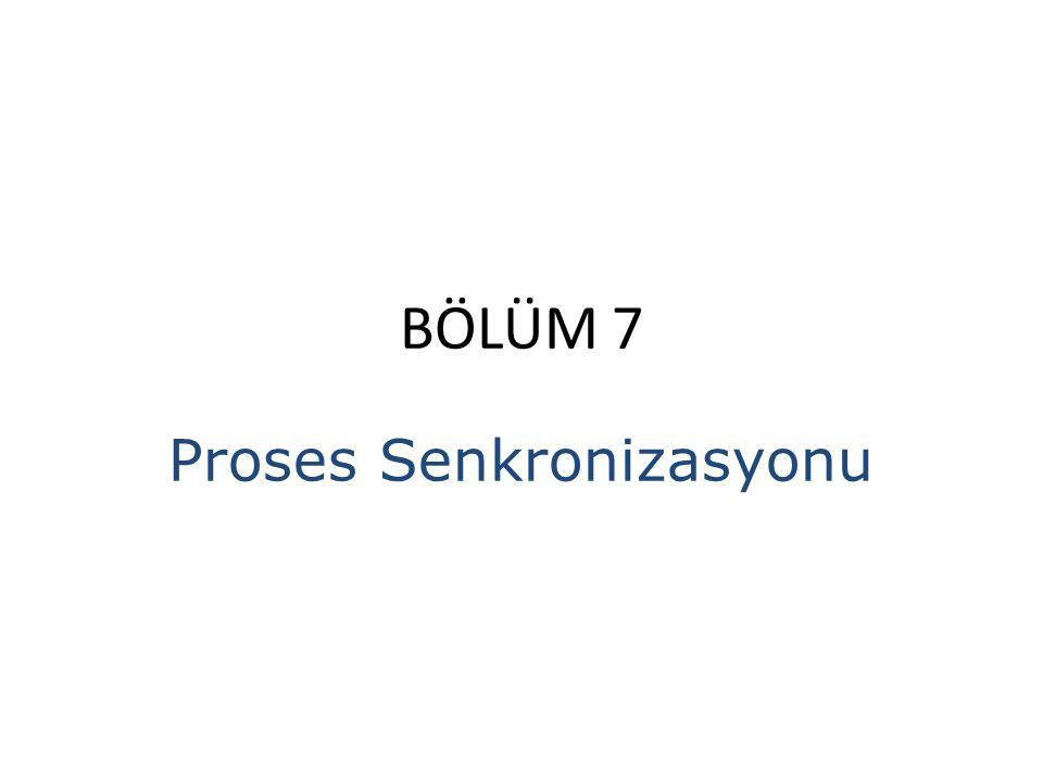 BÖLÜM 7 Proses Senkronizasyonu