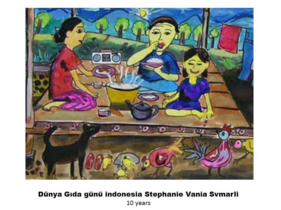Dünya Gıda günü indonesia Stephanie Vania Svmarli 10 years