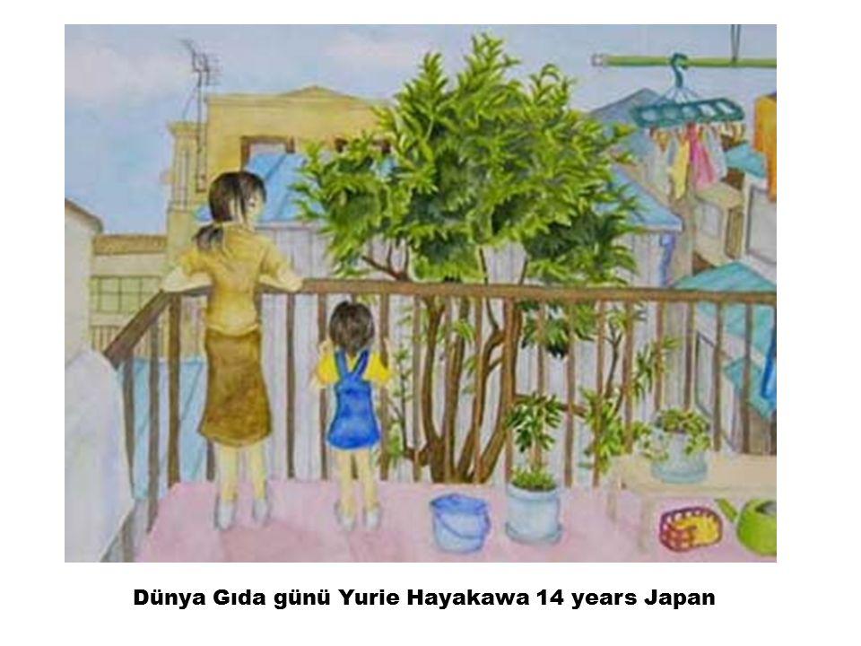 Dünya Gıda günü Yurie Hayakawa 14 years Japan