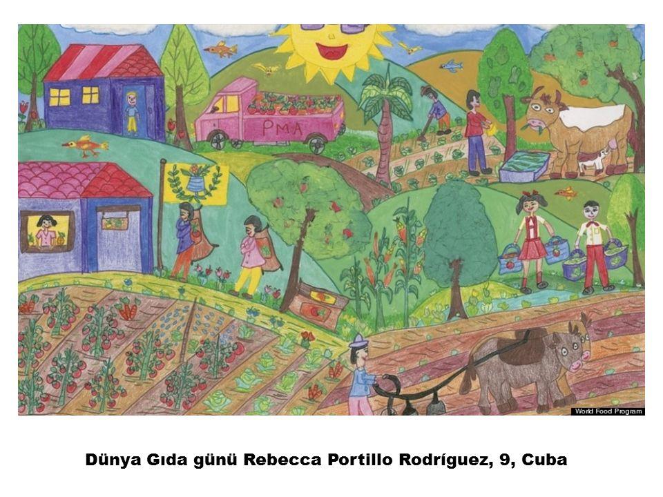 Dünya Gıda günü Rebecca Portillo Rodríguez, 9, Cuba