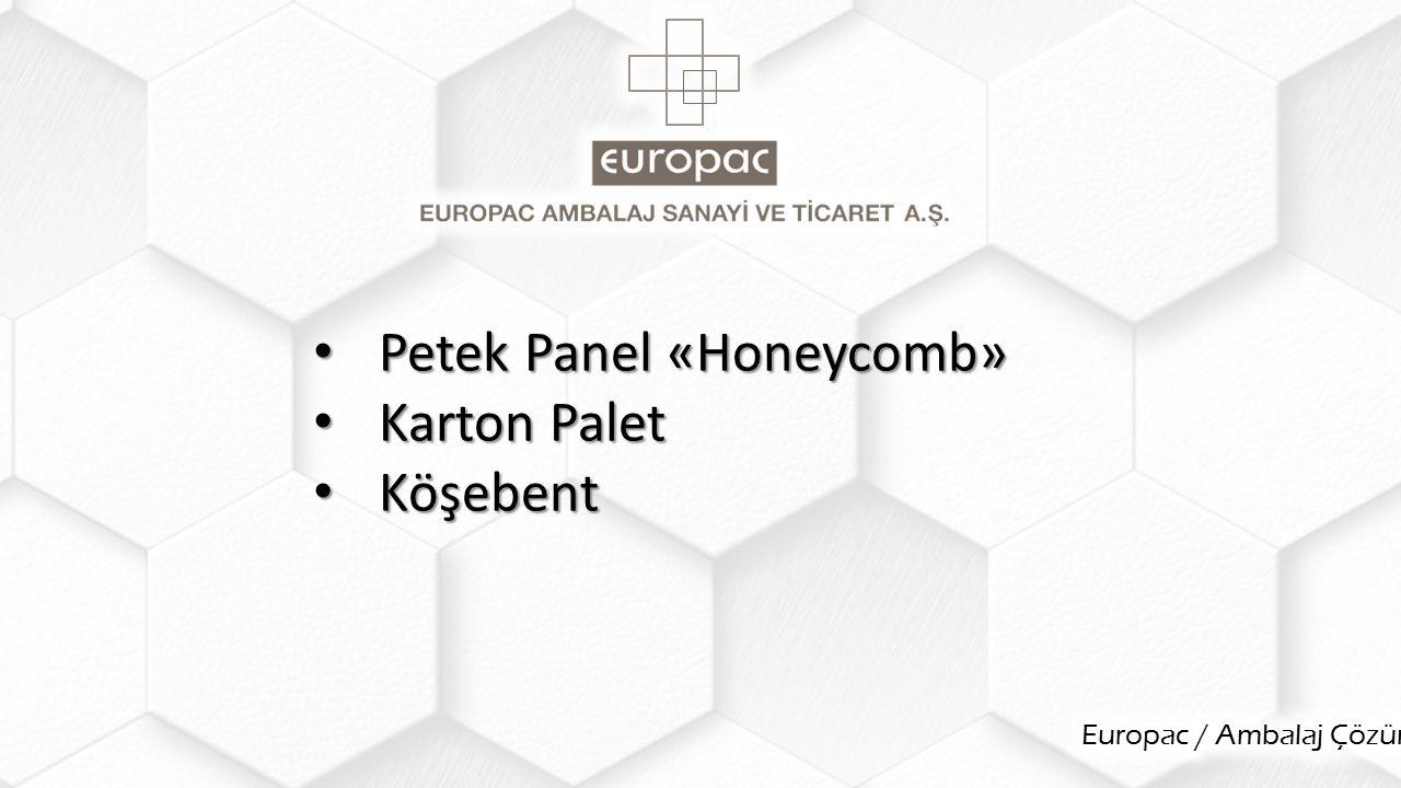 Petek Panel «Honeycomb» Petek Panel «Honeycomb» Karton Palet Karton Palet Köşebent Köşebent