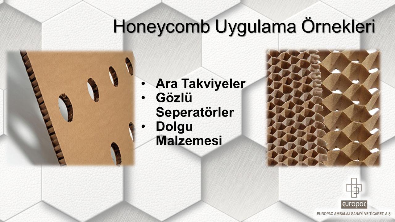 Honeycomb Uygulama Örnekleri Honeycomb Uygulama Örnekleri Ara Takviyeler Gözlü Seperatörler Dolgu Malzemesi