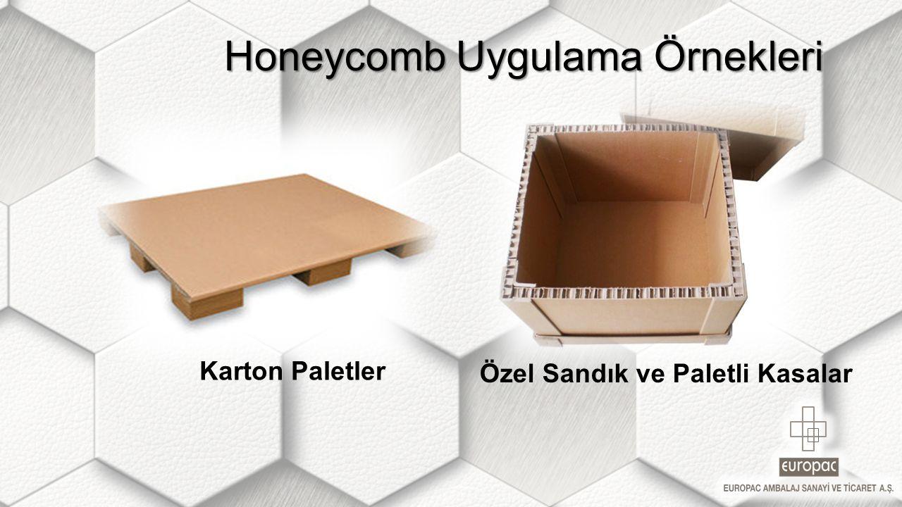 Honeycomb Uygulama Örnekleri Honeycomb Uygulama Örnekleri Karton Paletler Özel Sandık ve Paletli Kasalar