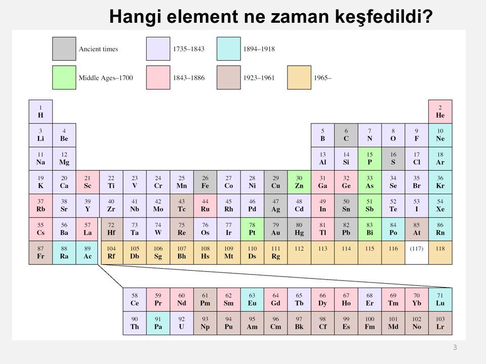 4 Elementlerin sınıflandırılması