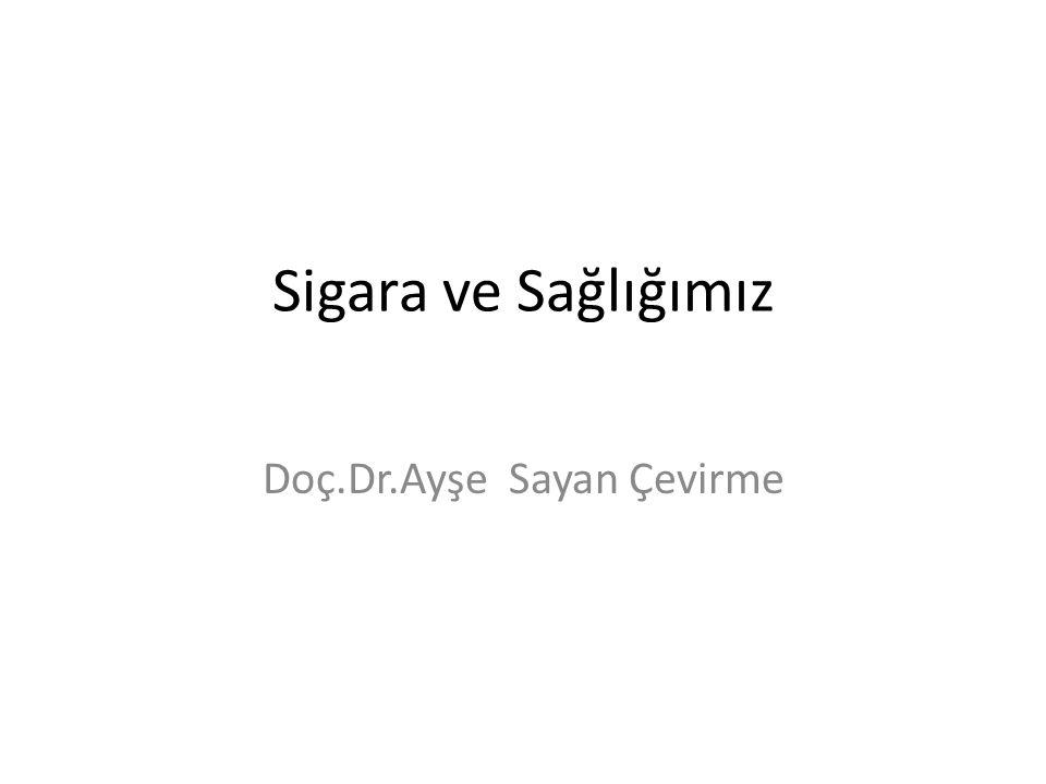 Sigara ve Sağlığımız Doç.Dr.Ayşe Sayan Çevirme