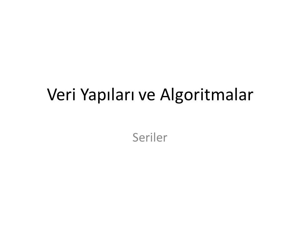 Veri Yapıları ve Algoritmalar Seriler