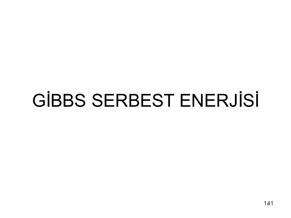 GİBBS SERBEST ENERJİSİ 141