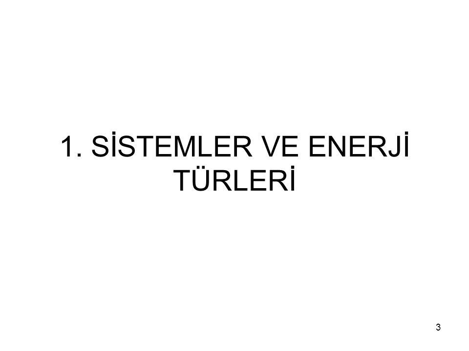 1. SİSTEMLER VE ENERJİ TÜRLERİ 3
