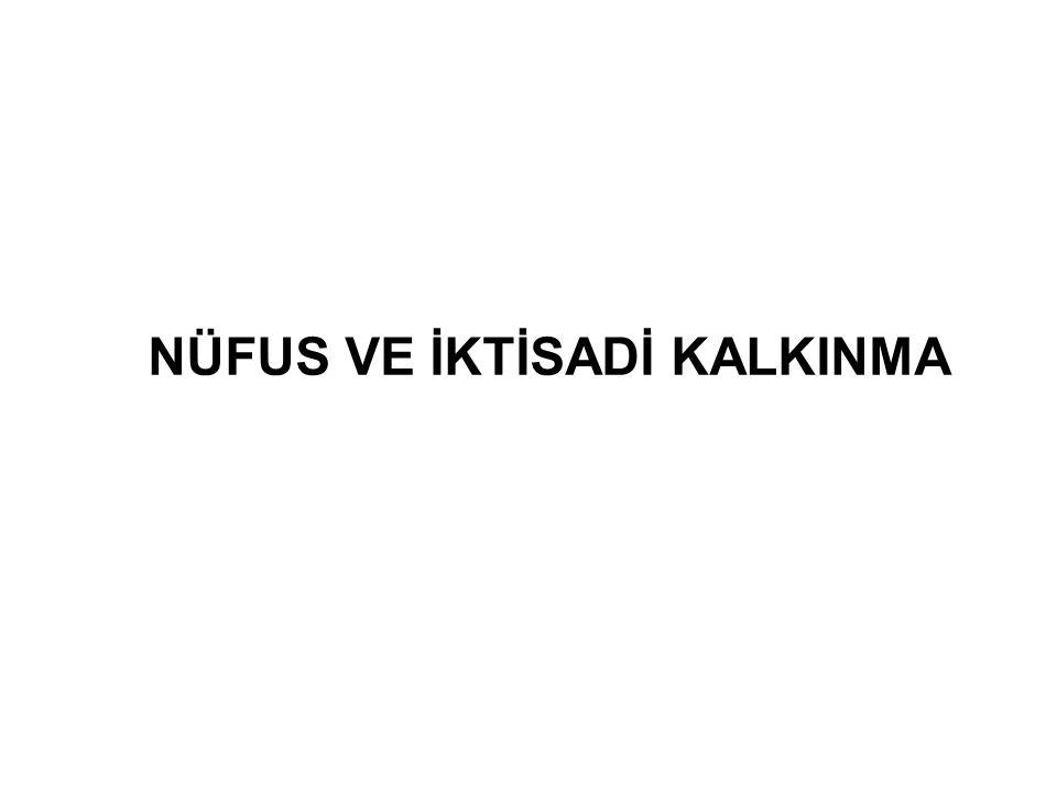 NÜFUS VE İKTİSADİ KALKINMA