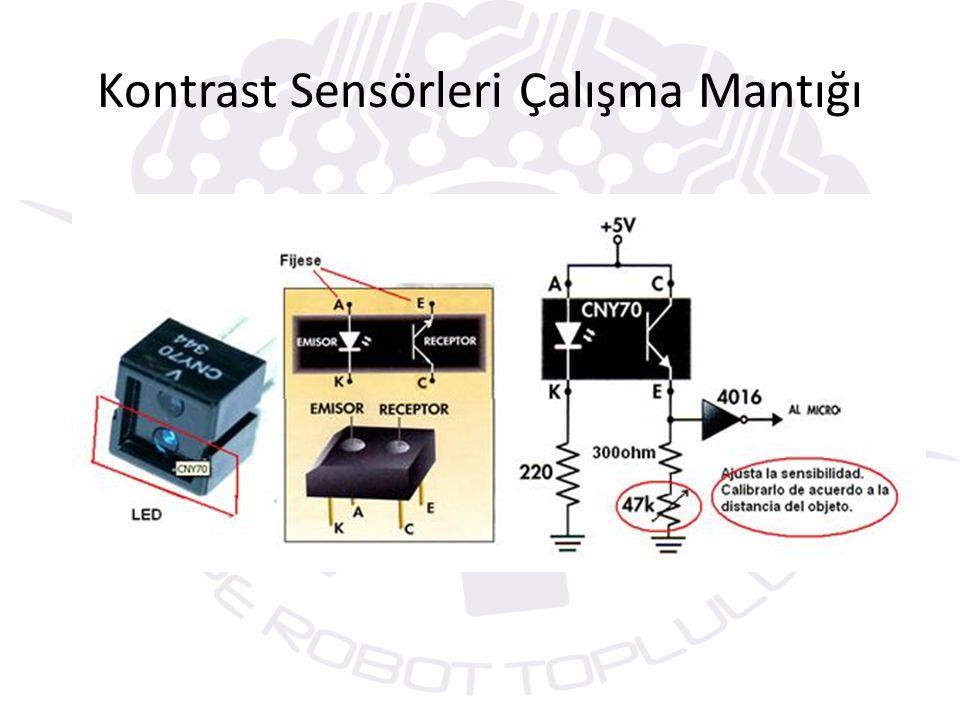 Kontrast Sensörleri Çalışma Mantığı