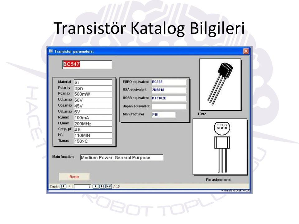 Transistörün Şekli