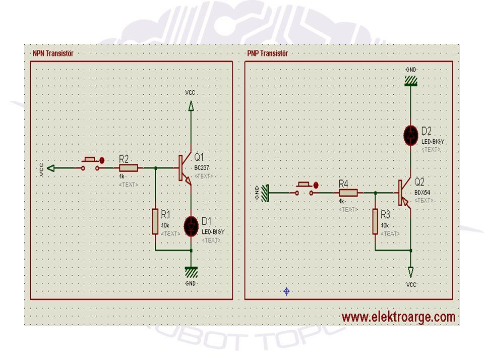 FLİP-FLOP DEVRESİ Genel olarak flip flop devrelerin çalışma prensibi şöyledir; Transistörleri iletime sokacak bir gerilim olmadığından LED ler yanmaz.