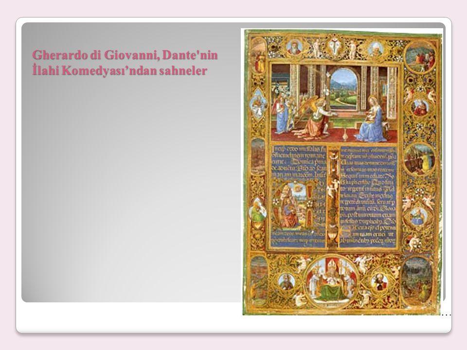 Gherardo di Giovanni, Dante nin İlahi Komedyası'ndan sahneler …