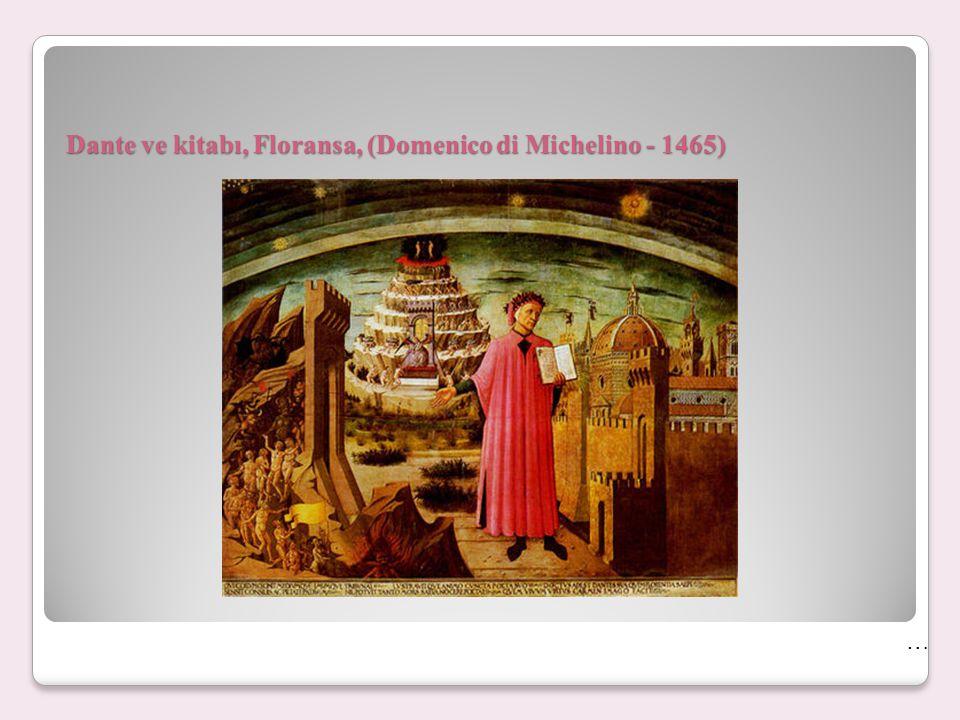 Dante ve kitabı, Floransa, (Domenico di Michelino - 1465) …
