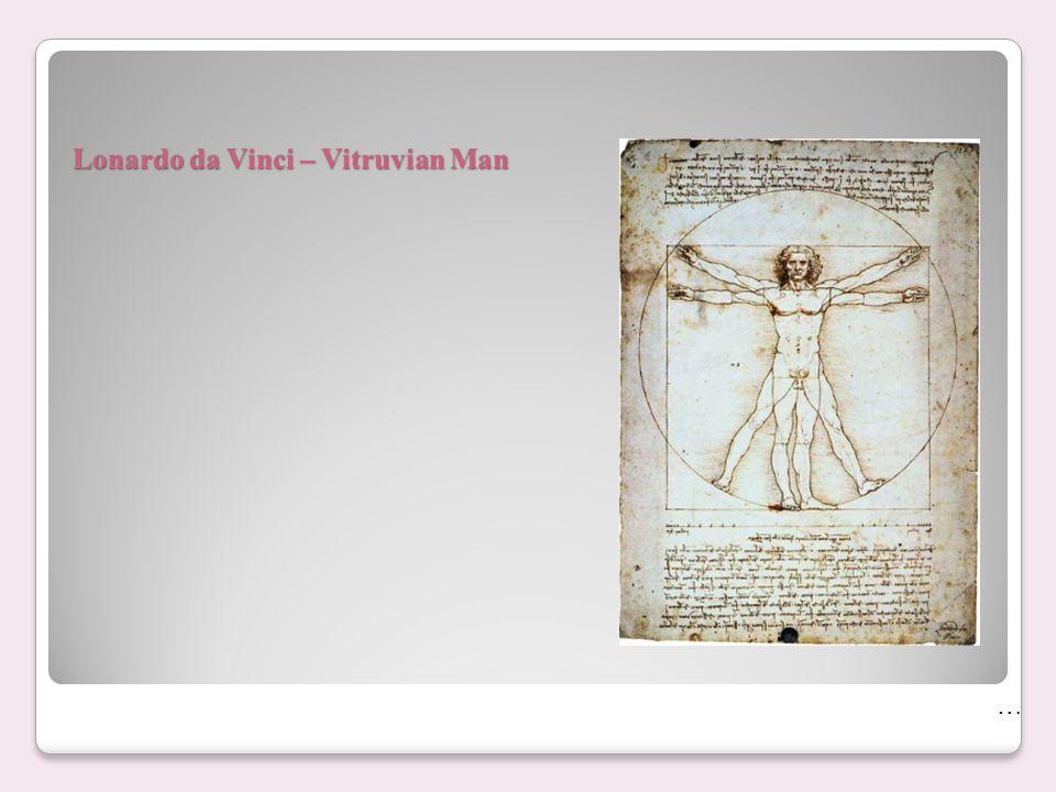 Lonardo da Vinci – Vitruvian Man …