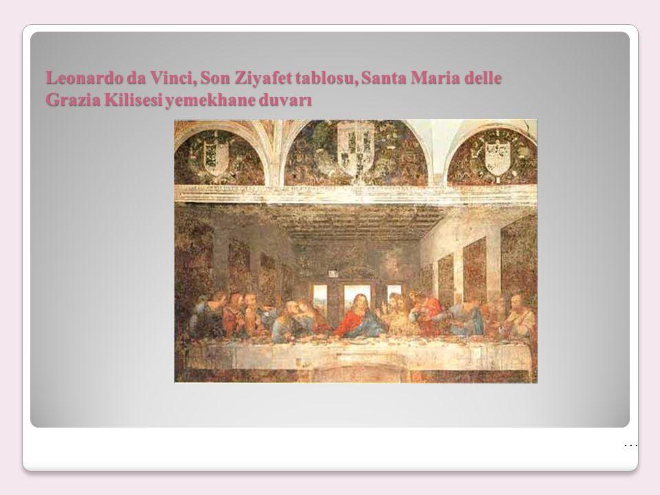 Leonardo da Vinci, Son Ziyafet tablosu, Santa Maria delle Grazia Kilisesi yemekhane duvarı …