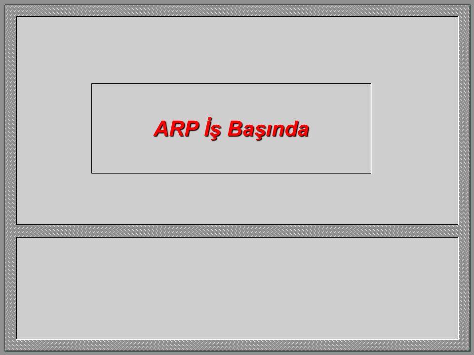 Bir IP adresini (-ki bildiğimizi varsayıyoruz) karşı gelen MAC adrese çevirmek yada çözmek için ARP kullanırız. 192.32.15.1192.32.15.2 0000A2000012080