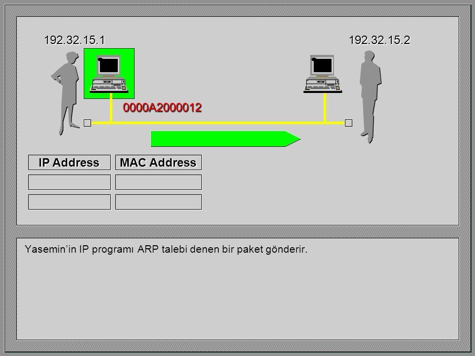 Yasemin'in IP programı, özel bir bellek alanına bakar ve daha önce Barış'a mesaj gönderip göndermediğini anlar. Bu alana ARP Cache adı verilir. Varsay