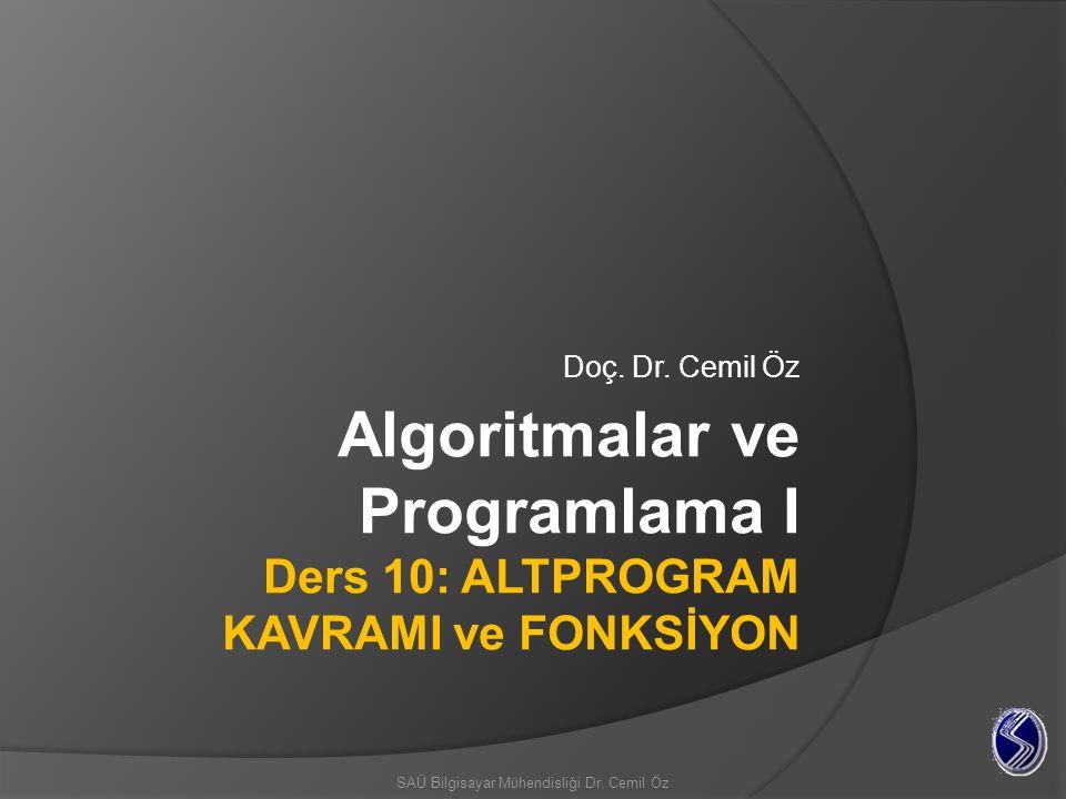 c/C++' da fonksiyona parametre aktarımı C/C++' da bir fonksiyonuna parametre aktarımı (argüman kullanımı) iki şekilde yapılabilir; Verinin değeri doğrudan aktarılabilir yani değer doğrudan parametre olarak kullanılabilir (değer ile çağırma – calling by value).