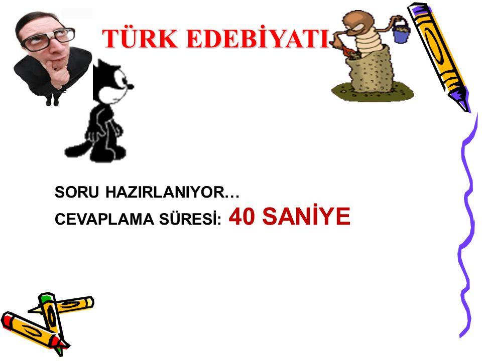 SORU 1: SORU 1: Türk hikâyeciliğinin önemli isimlerinden biri olan yazar, 1947'de Erzincan'ın İliç ilçesinde doğar.