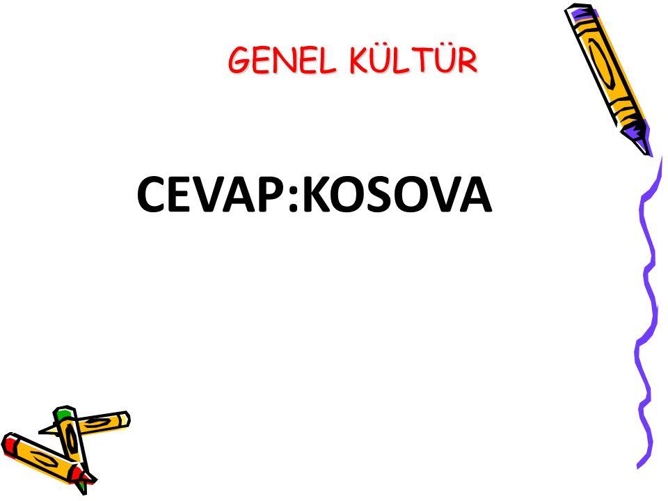 CEVAP:KOSOVA GENEL KÜLTÜR