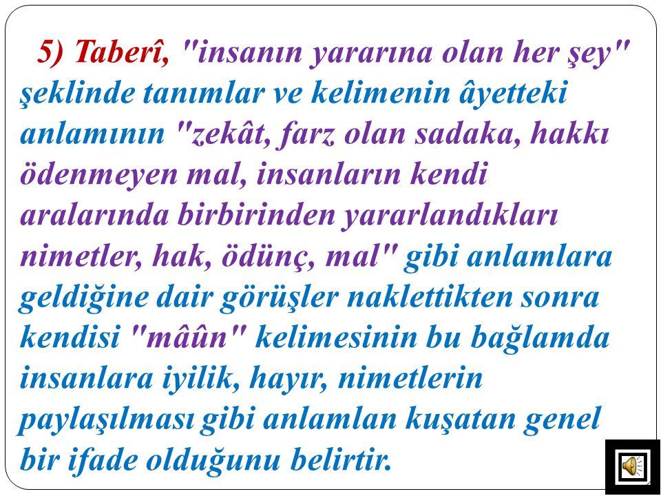 5) Taberî,