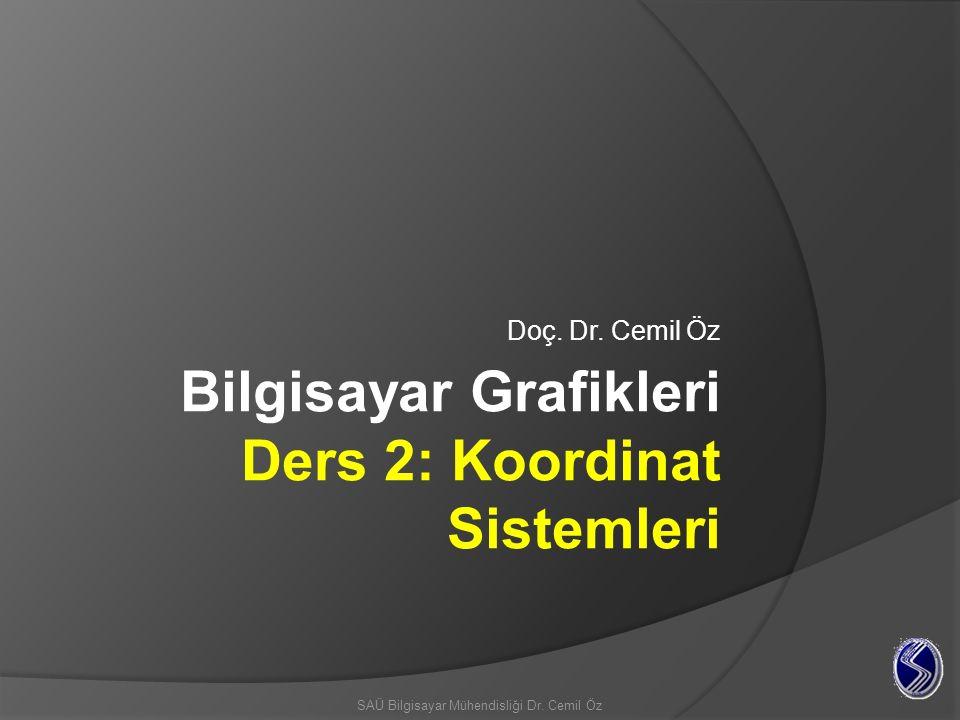 2 3B matematik ve dönüşümler 2B Kartezyen koordinat sistemi En bilinen iki boyutlu koordinat sistemi herkesin kullandığı Kartezyen koordinat sistemidir.