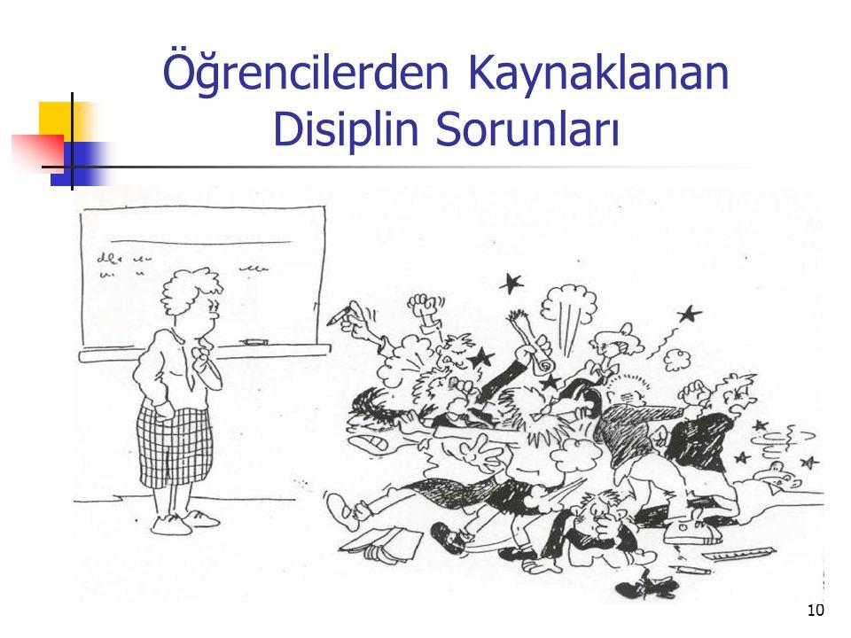 10 Öğrencilerden Kaynaklanan Disiplin Sorunları