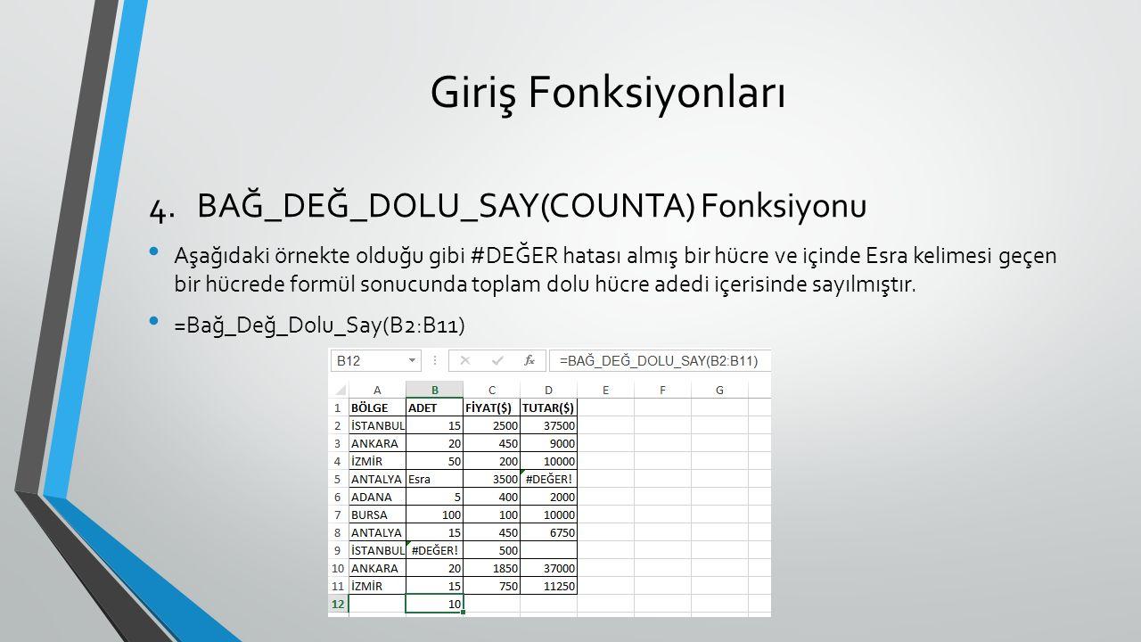 Metinsel Fonksiyonlar Değerlerin ilk harflerini büyük harfe çeviren fonksiyondur.