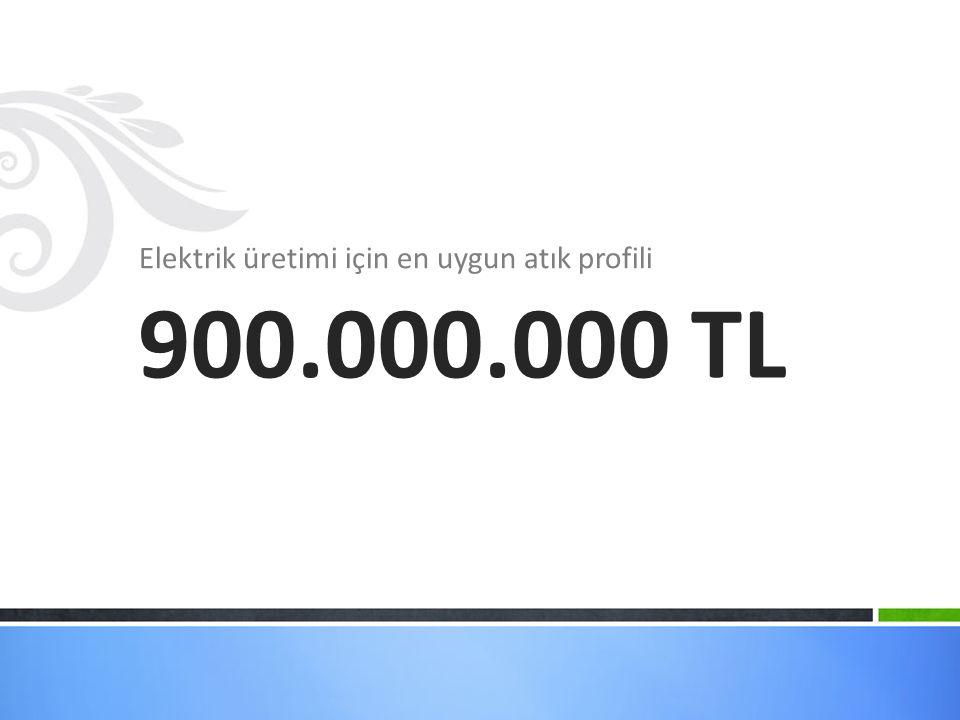 Elektrik üretimi için en uygun atık profili 900.000.000 TL