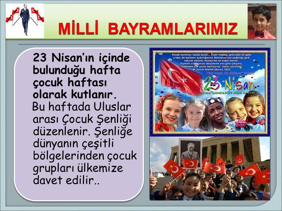 ATATÜRK, 23 Nisan 1920'de Türkiye Büyük Millet Meclisi'ni açmıştır.