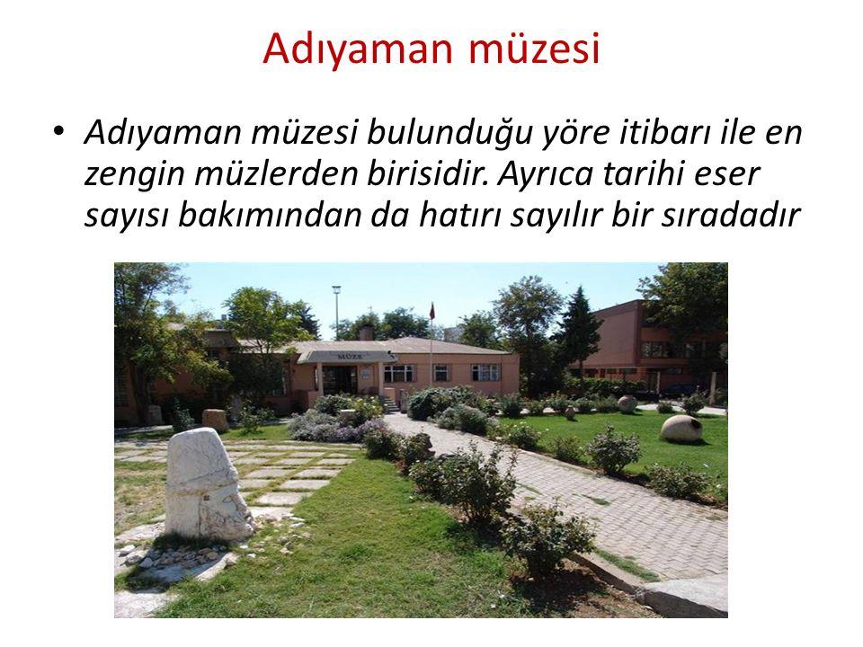 Adıyaman müzesi Adıyaman müzesi bulunduğu yöre itibarı ile en zengin müzlerden birisidir.