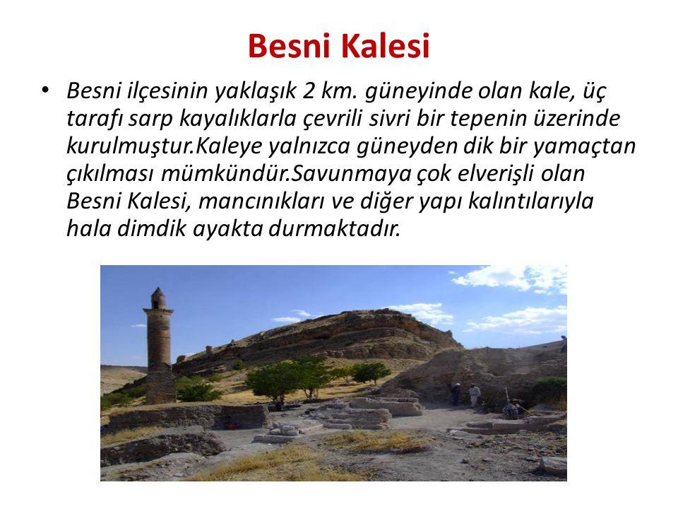 Besni Kalesi Besni ilçesinin yaklaşık 2 km.