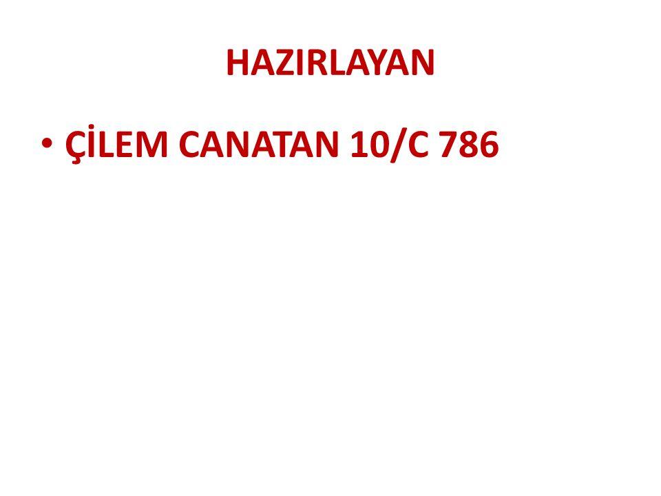HAZIRLAYAN ÇİLEM CANATAN 10/C 786