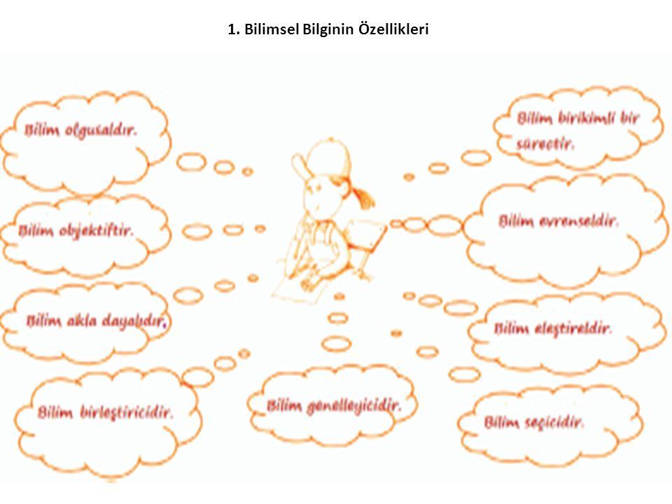 1. Bilimsel Bilginin Özellikleri