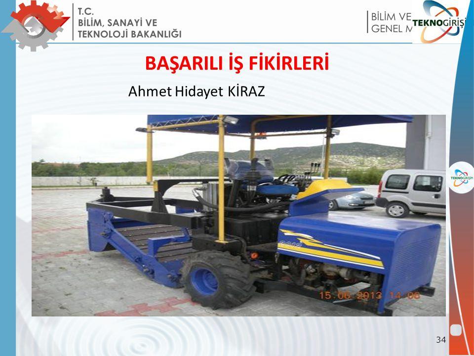 BAŞARILI İŞ FİKİRLERİ Ahmet Hidayet KİRAZ 34