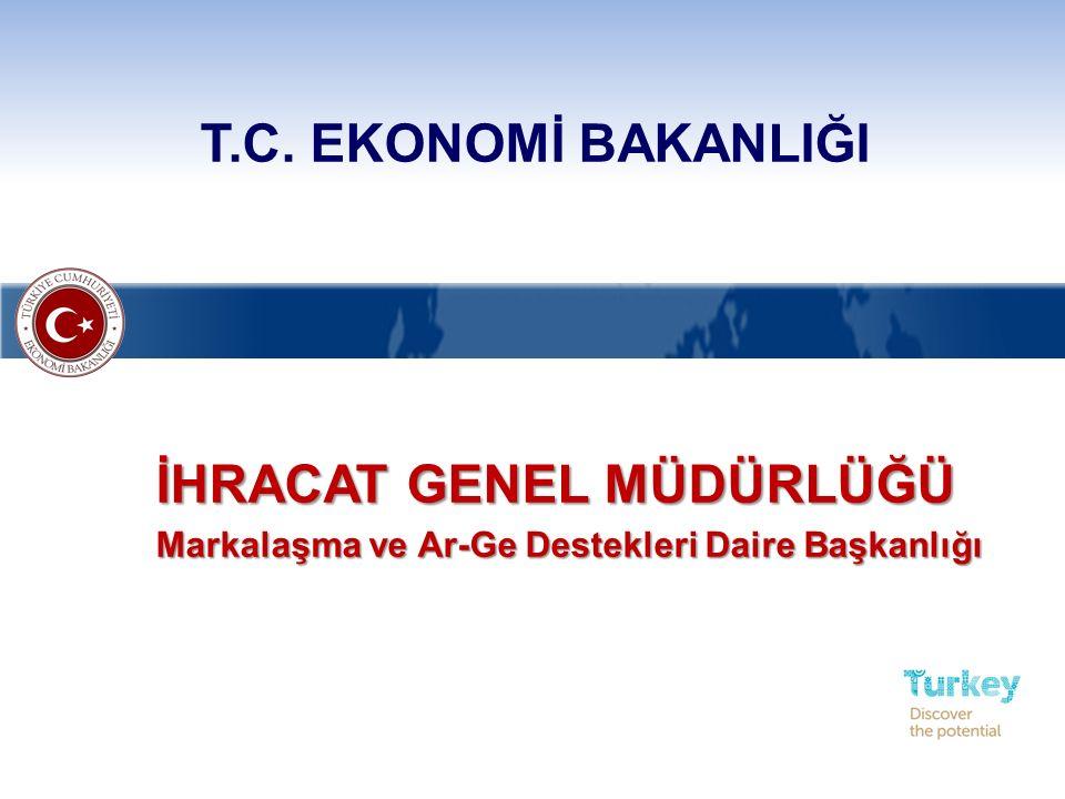  Tasarım ve Ürün Geliştirme Projeleri: Firmaların moda, endüstriyel tasarım ve inovasyon kapasitelerinin artırılarak, ihracata dönük katma değerli ürün üretmeleri amacıyla uygulanacak projeler  Hedef Kitle: Tasarım potansiyeli bulunan tüm şirketler  Şirket: Türk Ticaret Kanunu hükümleri çerçevesinde ticari ve/veya sınai faaliyette bulunan şirketler TANIMLAR İhracat Genel Müdürlüğü