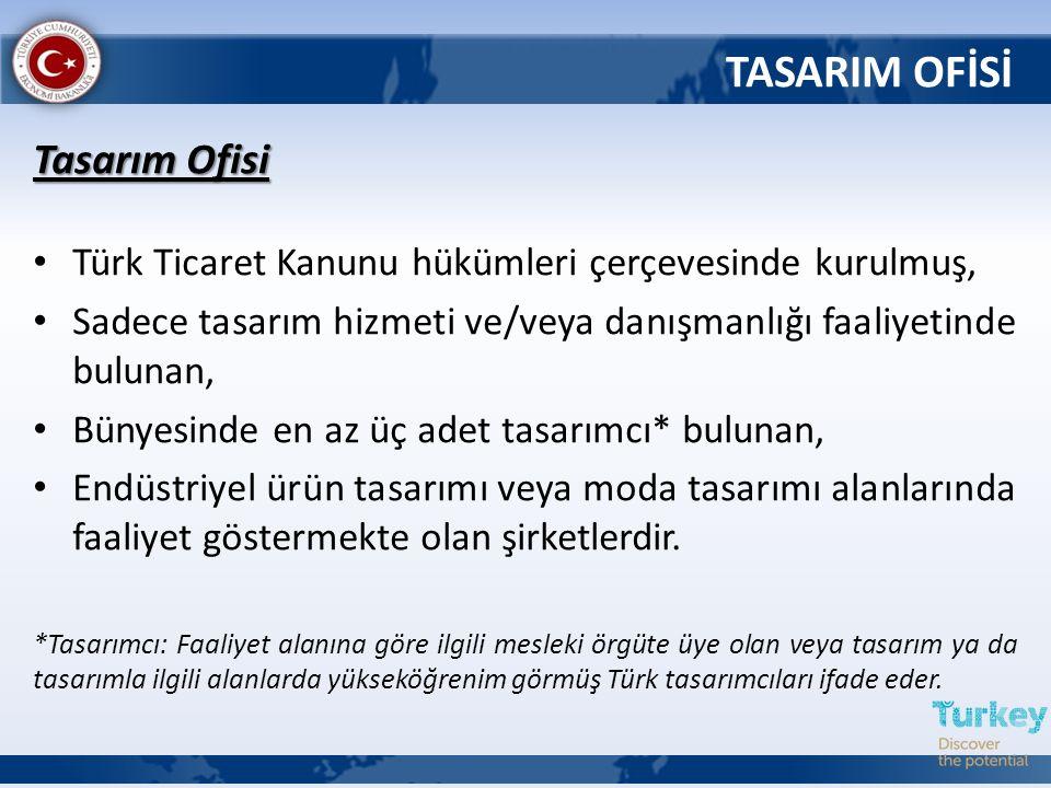 Tasarım Ofisi Türk Ticaret Kanunu hükümleri çerçevesinde kurulmuş, Sadece tasarım hizmeti ve/veya danışmanlığı faaliyetinde bulunan, Bünyesinde en az