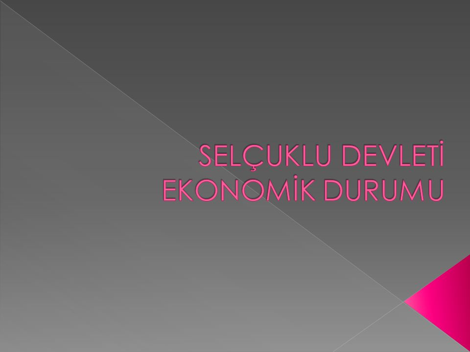  Ticaret devletin ana politikasını belirleyen başlıca meselelerden biriydi. Türkiye Selçukluları ticaretin gelişmesi amacıyla tüccarların konaklaması