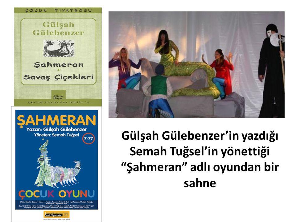 """Gülşah Gülebenzer'in yazdığı Semah Tuğsel'in yönettiği """"Şahmeran"""" adlı oyundan bir sahne"""