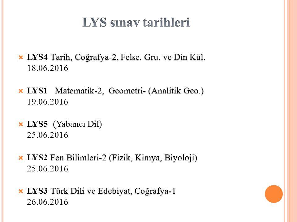 Tarih, Coğrafya-2, Felse.Gru. ve Din Kül.  LYS4 Tarih, Coğrafya-2, Felse.