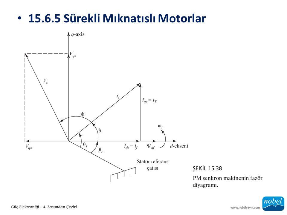 15.6.5 Sürekli Mıknatıslı Motorlar