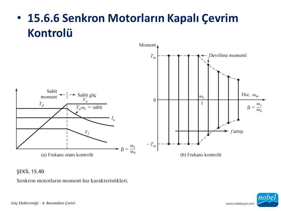 15.6.6 Senkron Motorların Kapalı Çevrim Kontrolü