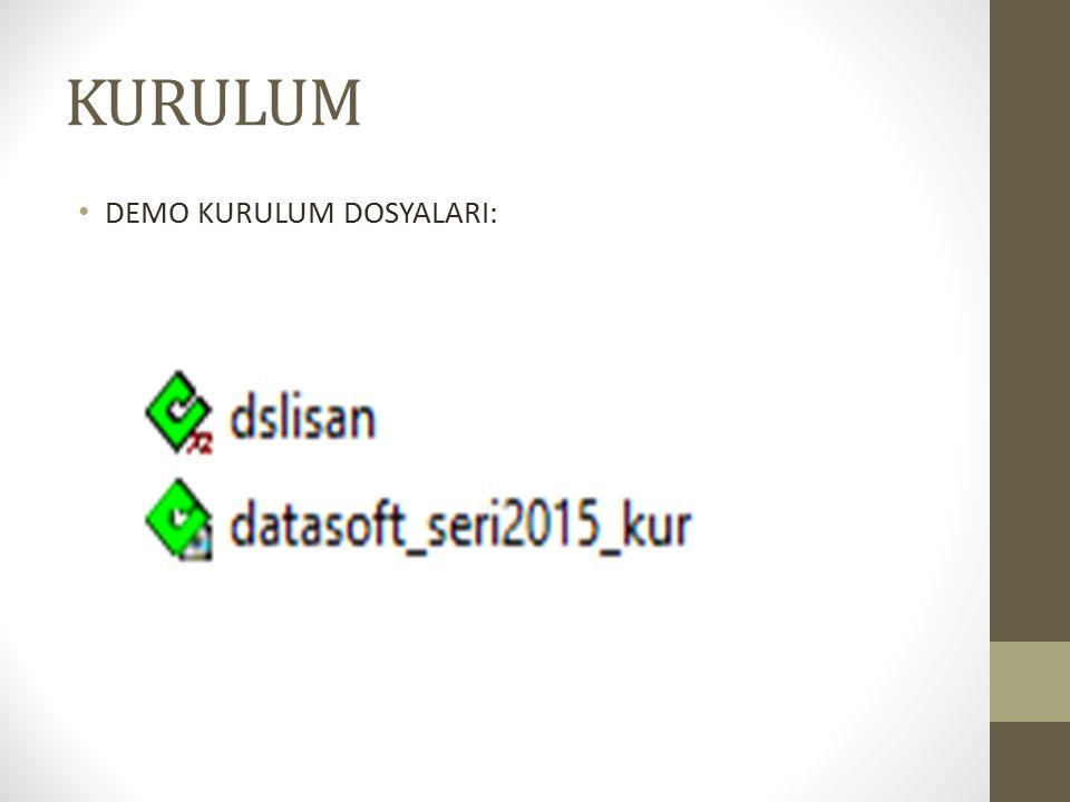 Programın kullanıcı adı: «Dsoft» olarak yazılır. Parola kısmı boş bırakılır.