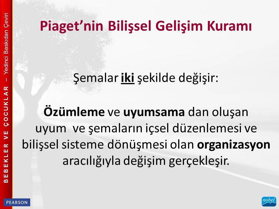 Piaget'nin Bilişsel Gelişim Kuramı Duyu motor dönemdeki başlıca bilişsel başarıları tanımlayın.