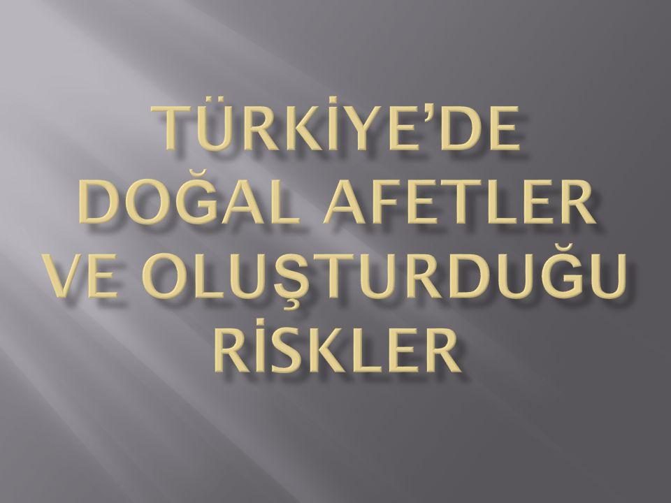  3) Türkiye'de Erozyon: Toprak tabakasının süreç içinde aşınmasına erozyon denir.