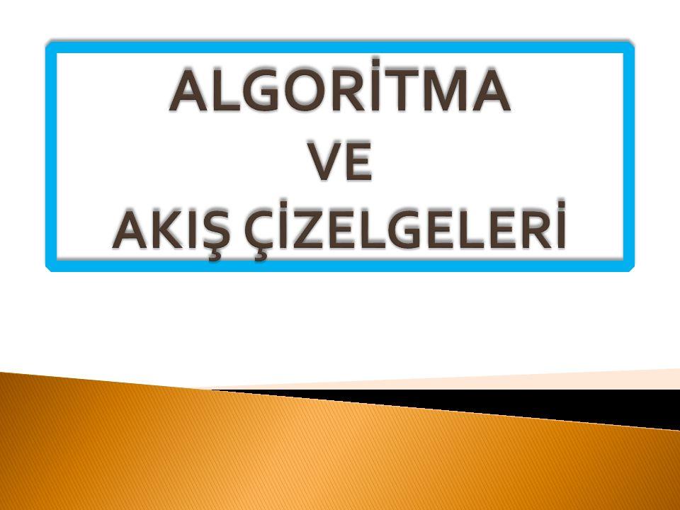  Algoritma Nedir. Algoritmanın Hazırlanması.  Akış Şemaları(Diyagramları) Nedir.
