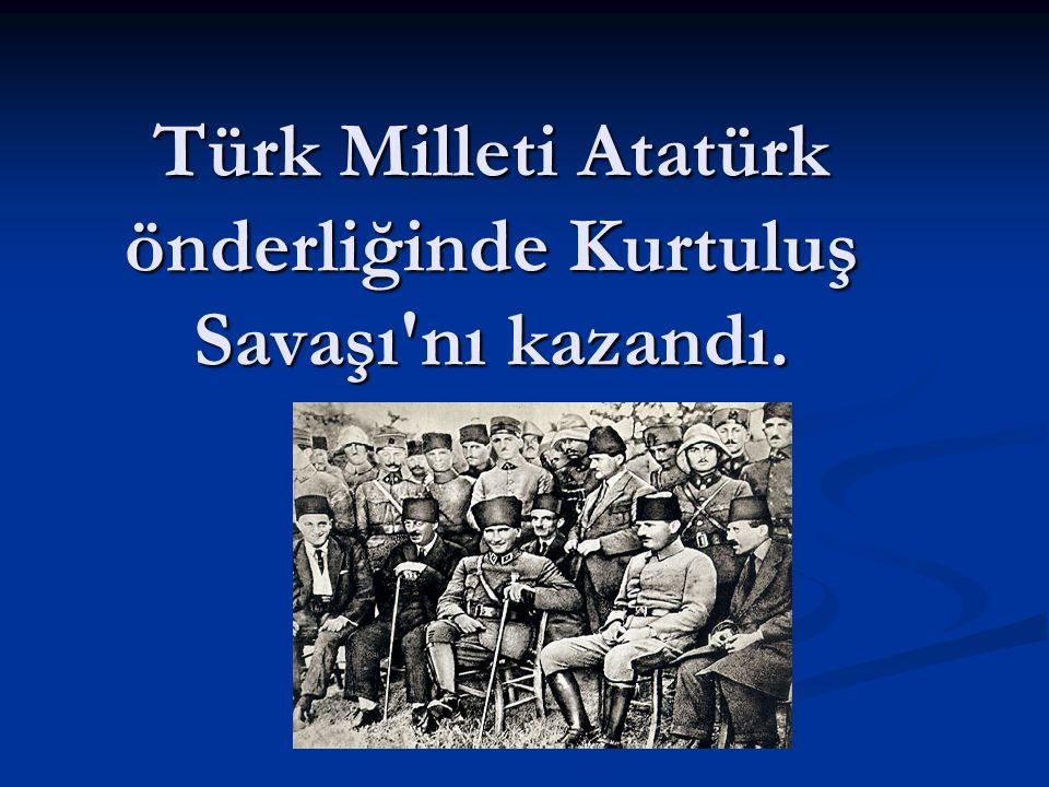 19 Mayıs 1919 yılında Samsun'a çıkarak Kurtuluş Savaşı'nı başlattı.