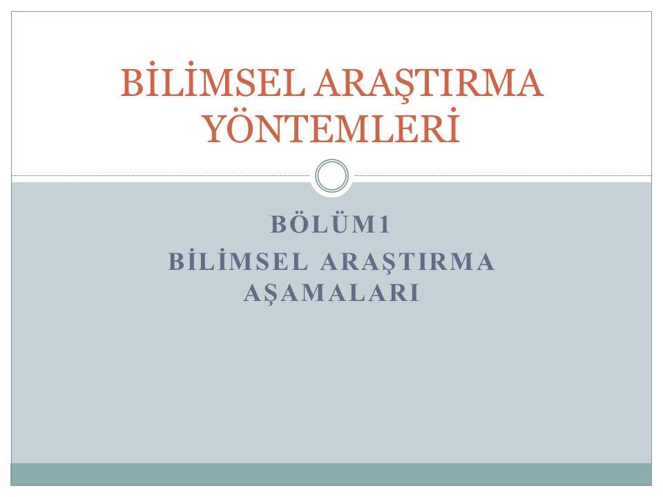 NİCEL ARAŞTIRMA TÜRLERİ 1.